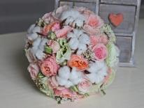Buchet mireasa  trandafiri 03