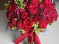 Buchet nasa trandafiri rosii 01