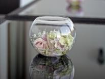 Bol sticla cu flori 01