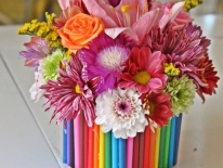 Aranjament floral creioane 13