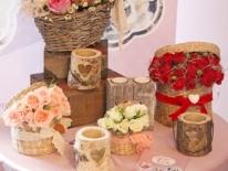 Aranjament cutii flori trandafiri 01