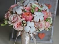 Buchet mireasa  trandafiri 02