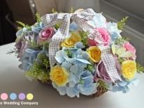 Aranjament flori hortensie albastra